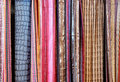 Fabric background texture rolls of for sale Stock Photo