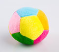 Fabric ball toy for baby Royalty Free Stock Photo