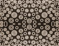 Fabric black and white texture suitable as background Royalty Free Stock Photos