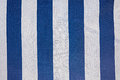 Fabric with blue and white stripe Royalty Free Stock Photo