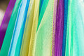Fabric cloth colors pastel close up bright textile cotton clothing detail Stock Image