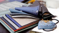 Fabric color samples Royalty Free Stock Photo