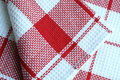 Fabric cotton checkered for towels Royalty Free Stock Images