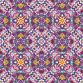 Fabric design from latin america seamless vector pattern inspired by ancient motifs in vivid colors Stock Photos
