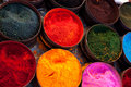 Fabric dyes in Peru Royalty Free Stock Photos