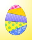 Fabric Easter egg Stock Photos
