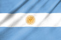 Fabric flag of argentina waving in the wind Royalty Free Stock Photo