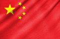 Fabric flag of china waving in the wind Royalty Free Stock Image