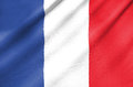 Fabric flag of france waving in the wind Stock Image