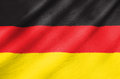 Fabric flag of germany waving in the wind Stock Photos