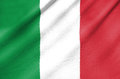 Fabric flag of italy waving in the wind Stock Photos