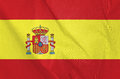 Fabric flag of spain waving in the wind Stock Image