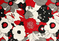 Fabric with flower pattern Stock Images
