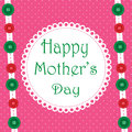 Fabric happy mothers day pink design with background and ribbon look as Royalty Free Stock Photo