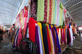 Fabric market fabrics are sold at the bazar in kashgar xinjiang province china Stock Photo