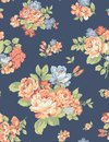 Fabric pattern art flower roses Royalty Free Stock Photo