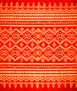 Fabric pattern background of thai style Stock Photo