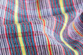 Fabric pattern closeup of colorful Stock Photos