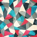 Fabric pieces seamless pattern eps Stock Images