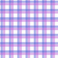 Fabric in pink and lilac and blue fiber seamless pattern tartan. EPS10