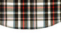 Fabric plaid background black Stock Image