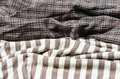 Fabric and plaid close up old brown color tone pattern detail Royalty Free Stock Images