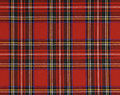 Fabric red squares scottish style full frame Stock Photo