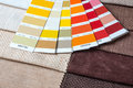 Fabric samples with pantone colorful Royalty Free Stock Image