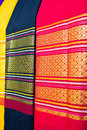 Fabric silk thai a beautiful Royalty Free Stock Images