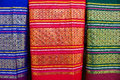 Fabric silk thai beauty on background Royalty Free Stock Photography