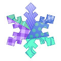 Fabric Snowflake Royalty Free Stock Images
