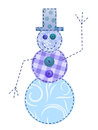 Fabric snowman Royalty Free Stock Images