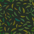Fabric Summer tropical palm tree leaves seamless pattern.