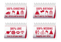 Fabric tags for cards vector set christmas card birthday valentines day wedding invitation of design elements Royalty Free Stock Image