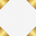 Fabric texture with golden corners Stock Image