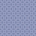 Fabric vector squared design seamless background pattern illustration in blue coloured Royalty Free Stock Photo