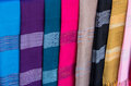 Fabrics found in a market Stock Photography