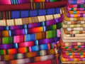 Fabrics of guatemala is full colourful that are sold at markets Royalty Free Stock Images