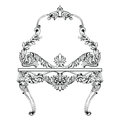 Fabulous Baroque Console Table and Mirror frame set. Vector French Luxury
