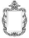 Fabulous Baroque Mirror frame set. Vector French Luxury rich carved ornaments. Victorian wealthy Style furniture