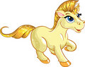Fabulous gold baby unicorn Royalty Free Stock Photos