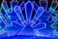 Fabulous ice illumination background