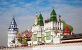 Fabulous palace with towers terem vane in izmailovo in moscow Stock Photos