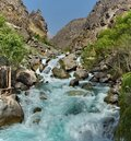 Fabulous Park in the Pamir mountain gorge