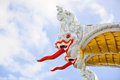 Fabulous serpent at the temple of thailand Royalty Free Stock Image