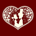 Fabulous silhouettes of the Prince and Princess