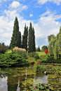 Fabulously beautiful Italian garden Sigurta. Royalty Free Stock Photos