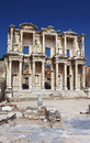 Facade of ancient Celsius Library in Ephesus Royalty Free Stock Photos