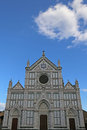Facade of ancient Church called Santa Croce in Florence Royalty Free Stock Photo