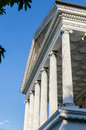 Facade of ancient temple in rome may Royalty Free Stock Images